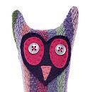 Handmade Lavender Mini Owl