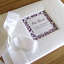 Personalised Deluxe Wedding Guest Book