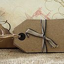 Brown Card Luggage Tags Pack Of Six