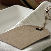 Six Large Brown Card Luggage Tags - cards