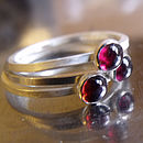 4mm Sterling silver Garnet rings