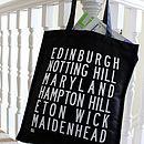 Personalised Destinations Canvas Shopper Bag