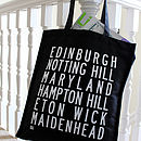Personalised Destinations Shopper Bag