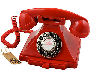 Gpo Carrington Vintage Design Telephone Red - home accessories