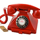 Gpo Carrington Vintage Design Telephone Red