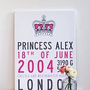 Personalised Name Print - Prince Or Princess