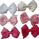 top - white, Antique white, Middle - Lt pink, Pink, Bottom - Hot pink, Shocking Pink