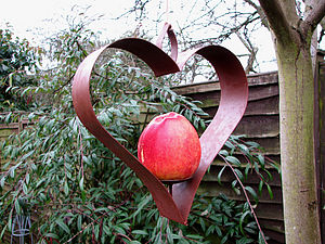 Shaker Heart Bird Feeder - small animals & wildlife