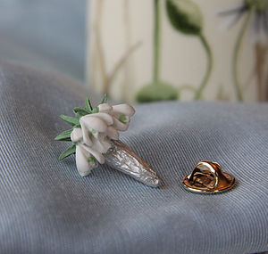 Snowdrops Lapel Pin - pins & brooches