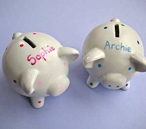 Personalised Piggy Bank - children's room accessories