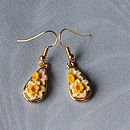Daffodil Cameo Drop Earring