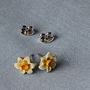 Tiny Daffodil Earrings