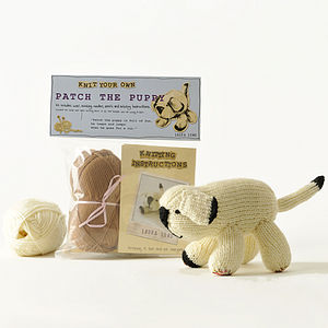 Patch The Puppy Knitting Kit - gifts for children