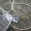 Personalised Pearl Butterfly Bridal Horseshoe
