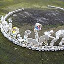Vintage-Style Crystal and Mother of Pearl Tiara