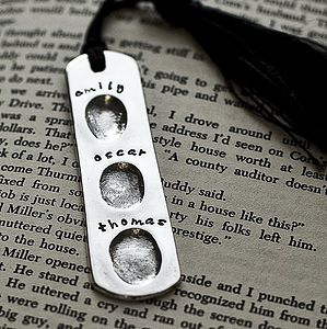 Personalised Fingerprint Bookmark - gifts for him