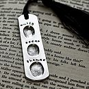 Personalised Fingerprint Bookmark