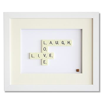 Live Laugh Love Scrabble Art
