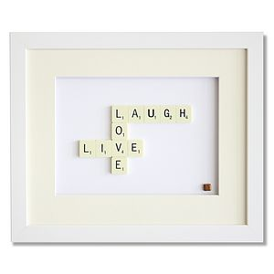 Live Laugh Love Scrabble Art - art & pictures