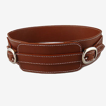 Hand Crafted Tan Leather Belt