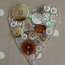 Personalised Neutral Heart Frame