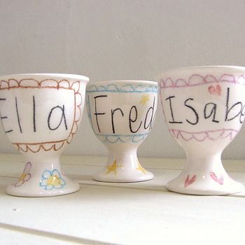 Personalised Hand Drawn Egg Cup
