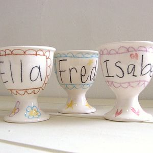 Personalised Hand Drawn Egg Cup - easter home