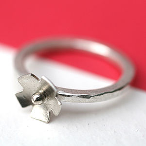 Handmade Silver Flower Girl Ring