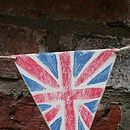 Handmade Wooden Union Jack Bunting