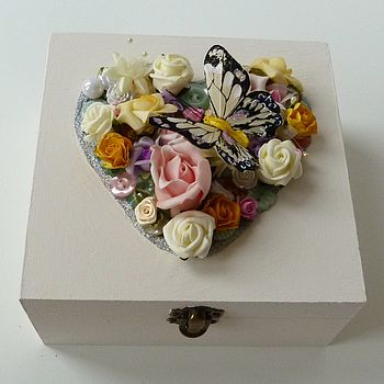 Personalised Med Spring Wedding Keepsake Box