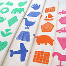 Shapes And Things Nursery Print Cushion