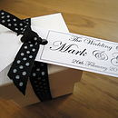 Favours Box With Personalised Gift Tag