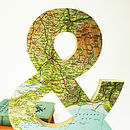 Vintage Map Ampersand