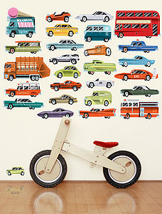 Highway Fabric Wall Stickers - children's room