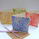 Set Of Eight Seed Heads Note Cards