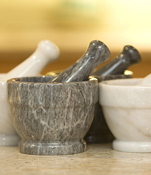 Hand Crafted Marble Pestle And Mortar