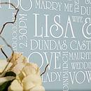 Personalised Vintage Wedding Typographic Art