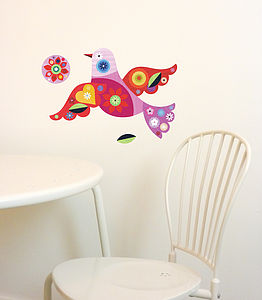 Bird Fabric Wall Stickers - living & decorating