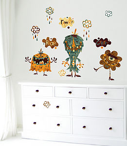 Roaring Monsters Fabric Wall Stickers