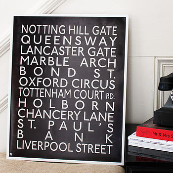 Personalised Destinations Blind Print
