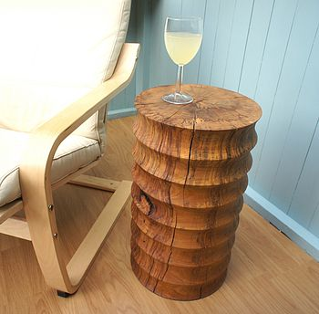 Solid Beech Coved Side Table