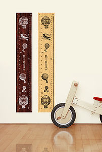 Balloons Rule Fabric Sticker Height Chart - wall stickers