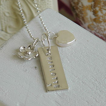 Personalised Silver Charm Necklace