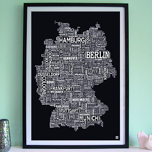 Germany Screen Print - posters & prints