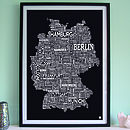 Germany Screen Print
