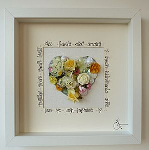 A Personalised Spring Wedding Heart Picture