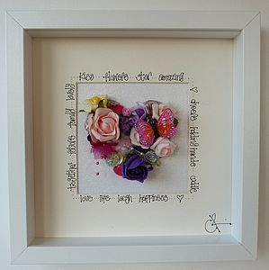 A Personalised Summer Wedding Heart Picture