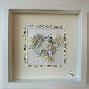 A Personalised White/Silver Wedding Picture