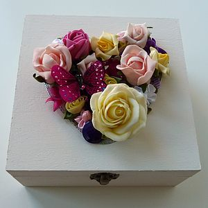 Personalised Summer Wedding Keepsake Box