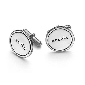 Personalised Silver Name Cufflinks - men's jewellery